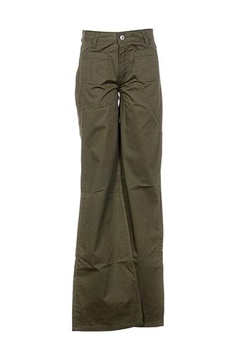 Pantalon casual vert PAUL & JOE pour femme