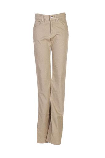 armani pantalons femme de couleur vert