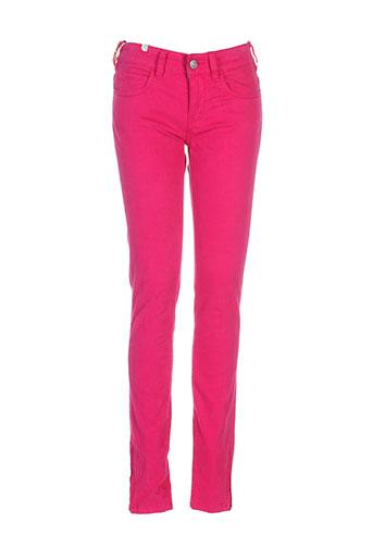 notify pantalons femme de couleur rose