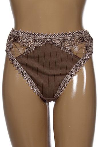 bolero strings et tangas femme de couleur marron