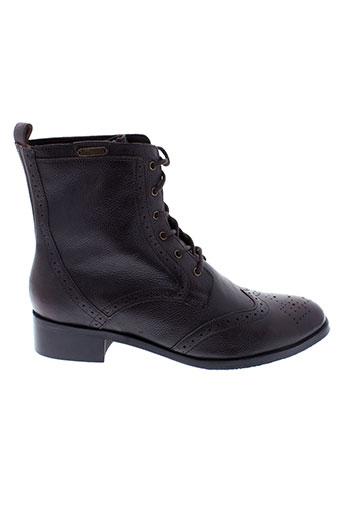 pepe et jeans boots homme de couleur marron