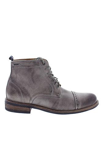 pepe et jeans boots homme de couleur gris