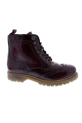 pepe et jeans boots homme de couleur rouge