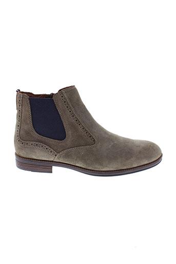 tommy et hilfiger boots femme de couleur marron