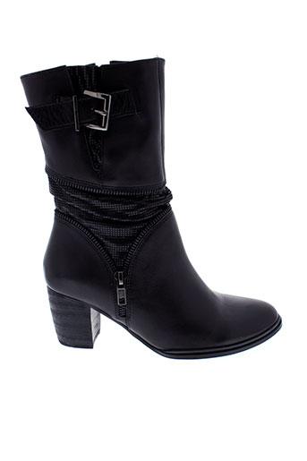 mam et zelle bottines femme de couleur noir
