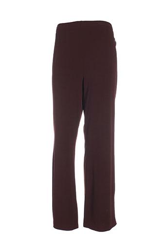 ronde et de et nuit pantalons et decontractes femme de couleur marron