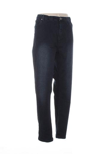 adia jeans et coupe et droite femme de couleur bleu