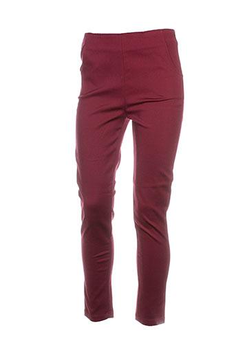 frnch pantalons femme de couleur rouge