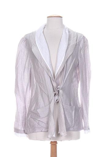 carole richard vestes femme de couleur gris