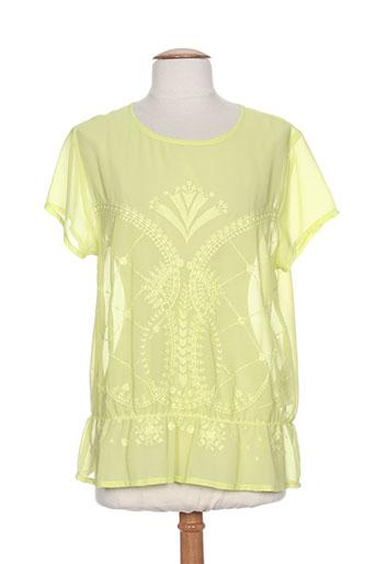 andamio blouses femme de couleur jaune