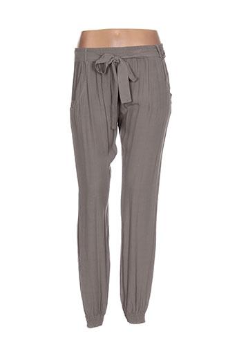 cristina et gavioli pantalons et decontractes femme de couleur marron