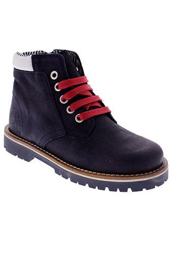 petit et bateau boots enfant de couleur bleu