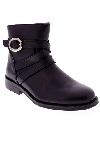 little et mary boots fille de couleur noir