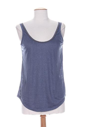 charlie joe t-shirts femme de couleur bleu