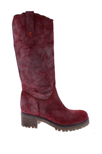 manila et grace bottes femme de couleur rouge