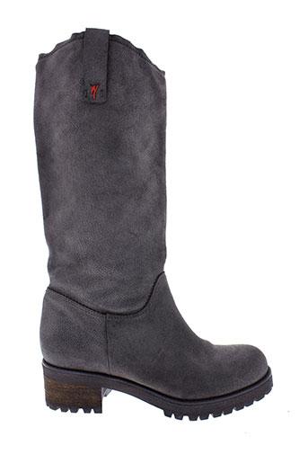 manila et grace bottes femme de couleur gris