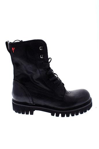 manila et grace boots femme de couleur noir