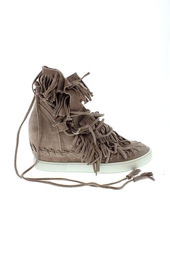 ovye et by et cristina et lucchi boots femme de couleur beige