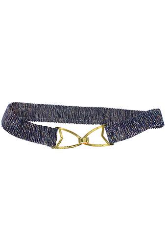 des et petits et hauts ceintures femme de couleur bleu