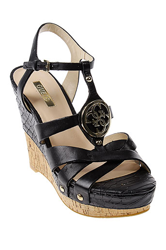 guess sandales et nu et pieds femme de couleur noir