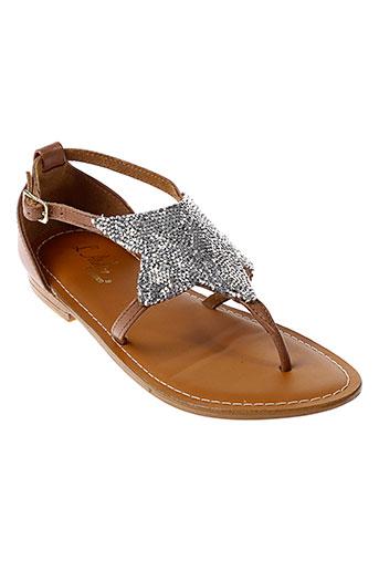 l et atelier et tropezien sandales et nu et pieds femme de couleur marron