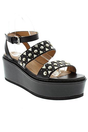 janet et sport sandales et nu et pieds femme de couleur noir