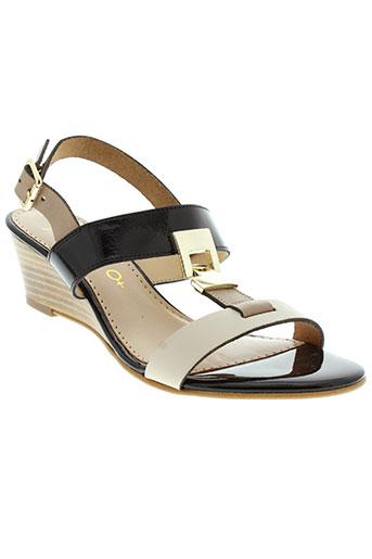 rosemetal sandales et nu et pieds femme de couleur noir