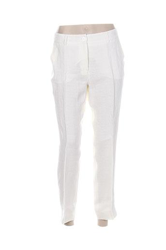 maxmara pantalons femme de couleur blanc