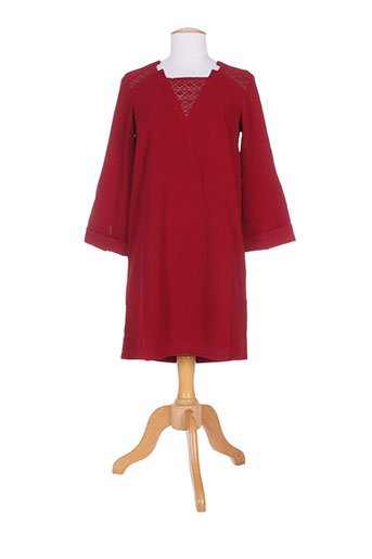 by monshowroom robes femme de couleur rouge