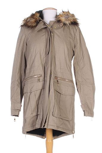by monshowroom manteaux femme de couleur beige