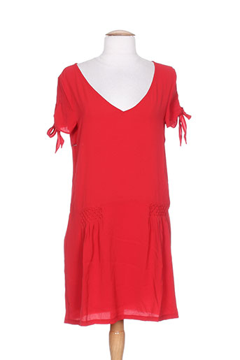 by monshowroom robes femme de couleur rouge