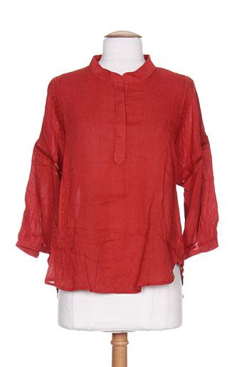 by monshowroom chemises femme de couleur orange