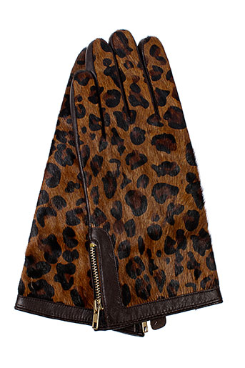 derhy gants femme de couleur marron