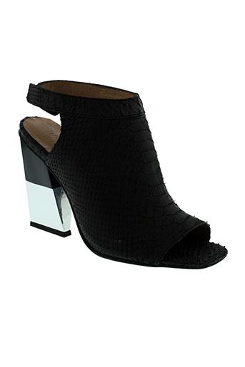 jeffrey et campbell sandales et nu et pieds femme de couleur noir