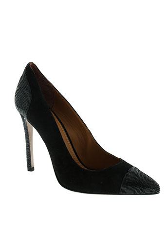 erin et adamson escarpins femme de couleur noir