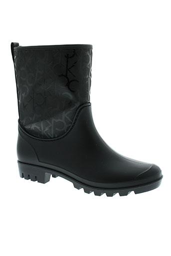 calvin et klein boots femme de couleur noir