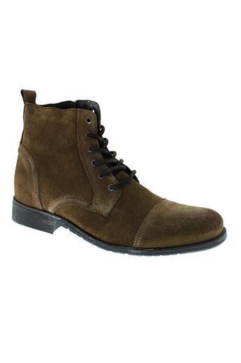 selected boots homme de couleur marron