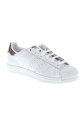 adidas baskets femme de couleur blanc