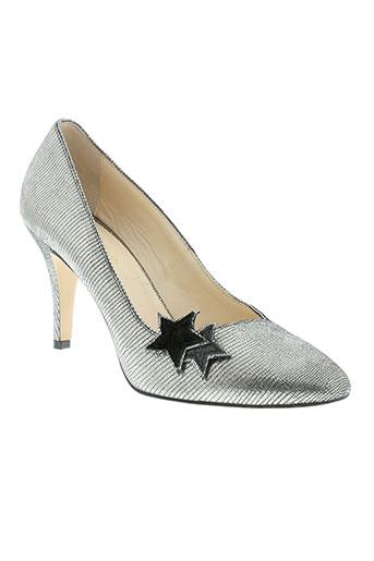 petite mendigote chaussures femme de couleur gris