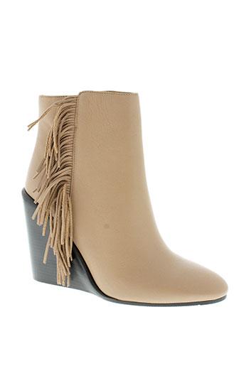 see et by et chloe boots femme de couleur beige