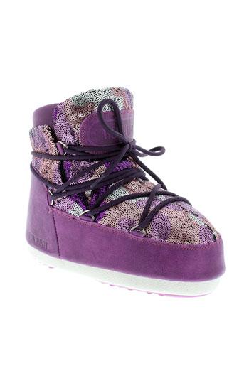 moon boot chaussures femme de couleur violet