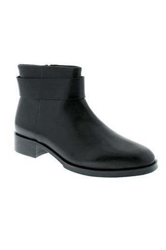 anne et thomas boots femme de couleur noir