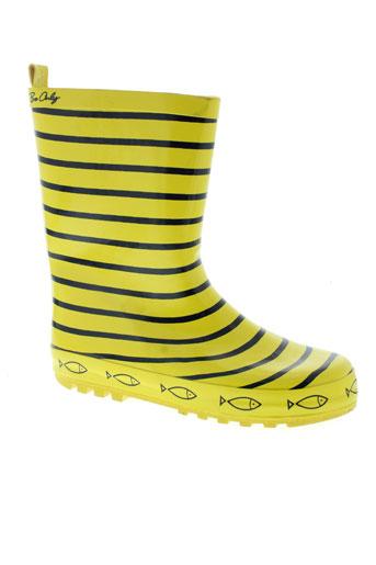 be et only bottes fille de couleur jaune