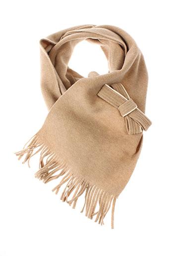 angiolo et frasconi echarpes et gants femme de couleur beige