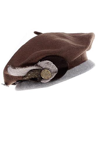 camalya chapeaux et bonnets femme de couleur marron