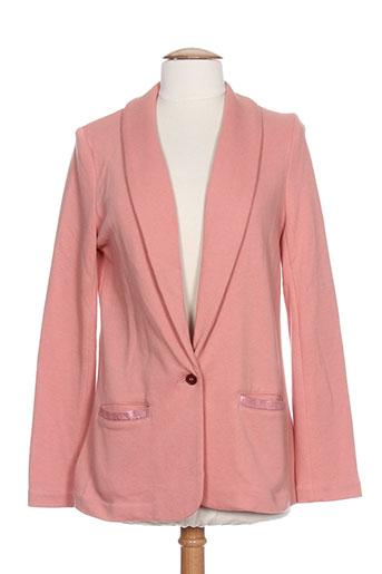 marie-sixtine vestes femme de couleur rose