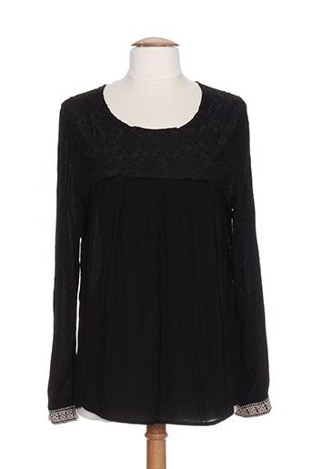 charlise chemises femme de couleur noir