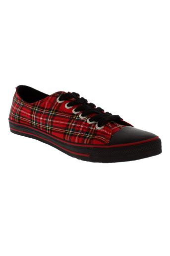 underground chaussures femme de couleur rouge