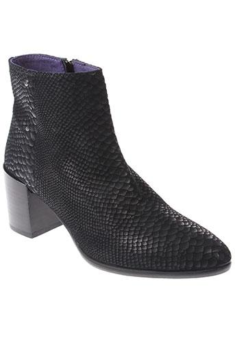 couleur et pourpre boots femme de couleur noir