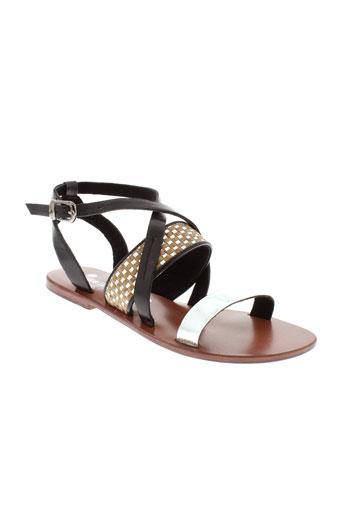 ilario et ferucci sandales et nu et pieds femme de couleur noir